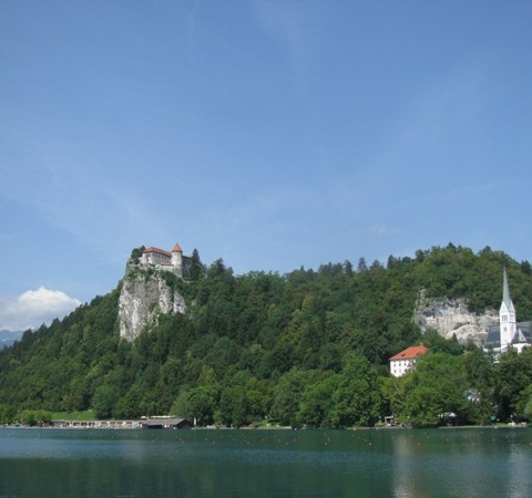 Bled castle lake