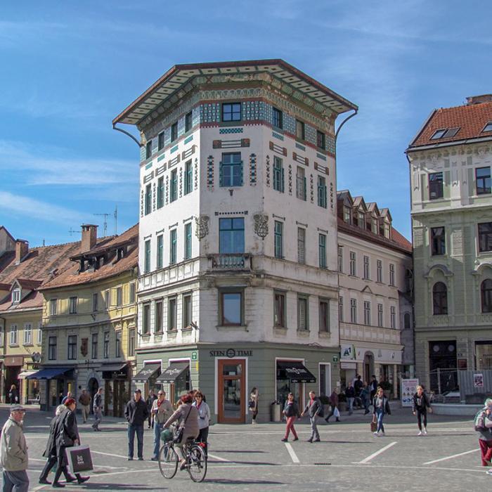 place Prešeren - la maison Hauptmann
