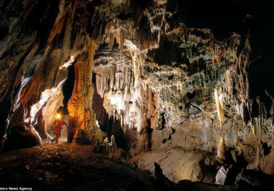 Kostanjevika jama grotte en Slovénie est l'un des superbes scènes photographiées par Peter Gedei